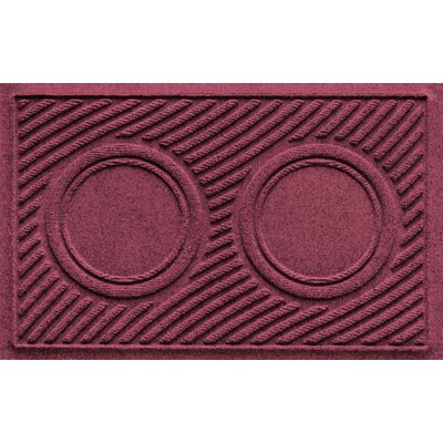 Aqua Shield Wave Pet Feeder Doormat Color: Bordeaux
