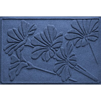 Aqua Shield Spring Flowers Doormat Color: Navy