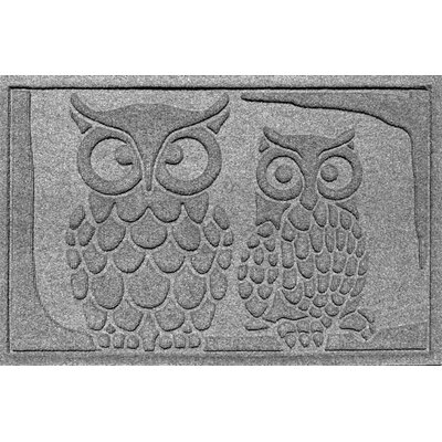 Aqua Shield Owls Doormat Color: Medium Gray