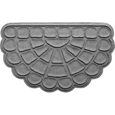 Aqua Shield Cobblestone Slice Doormat Color: Medium Gray