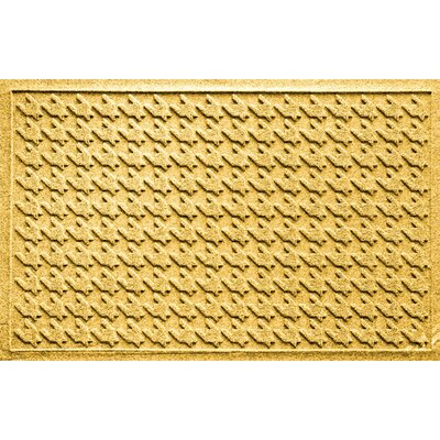 Aqua Shield Houndstooth Doormat Color: Yellow