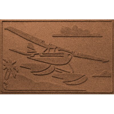 Aqua Shield Sea Plane Doormat Color: Dark Brown