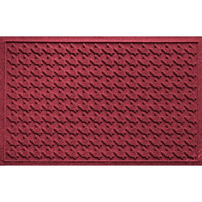 Aqua Shield Houndstooth Doormat Color: Red/Black