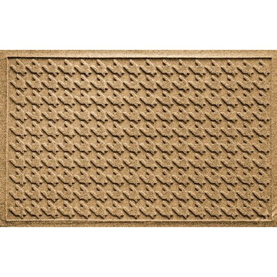 Aqua Shield Houndstooth Doormat Color: Gold