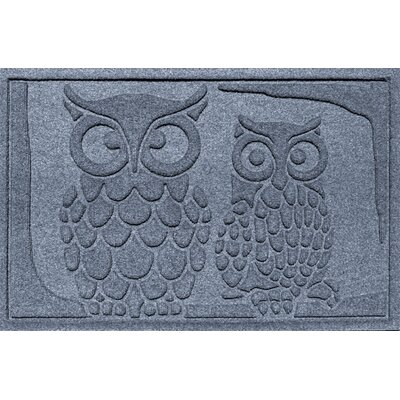 Aqua Shield Owls Doormat Color: Bluestone