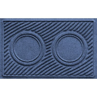 Aqua Shield Wave Pet Feeder Doormat Color: Navy