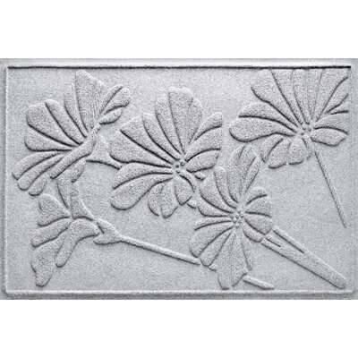 Aqua Shield Spring Flowers Doormat Color: White