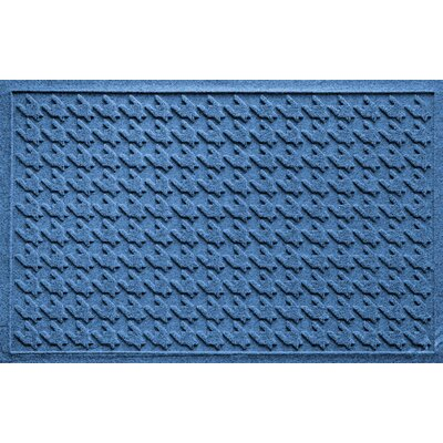 Aqua Shield Houndstooth Doormat Color: Medium Blue