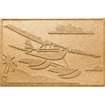 Aqua Shield Sea Plane Doormat Color: Gold
