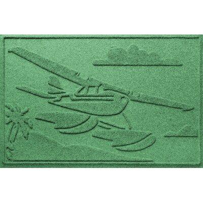 Aqua Shield Sea Plane Doormat Color: Light Green