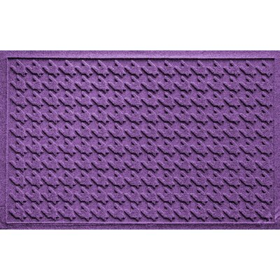 Aqua Shield Houndstooth Doormat Color: Purple