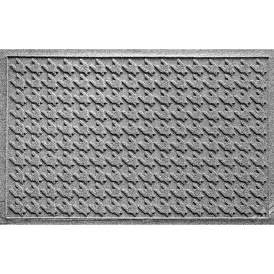 Aqua Shield Houndstooth Doormat Color: Medium Gray