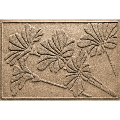 Aqua Shield Spring Flowers Doormat Color: Camel