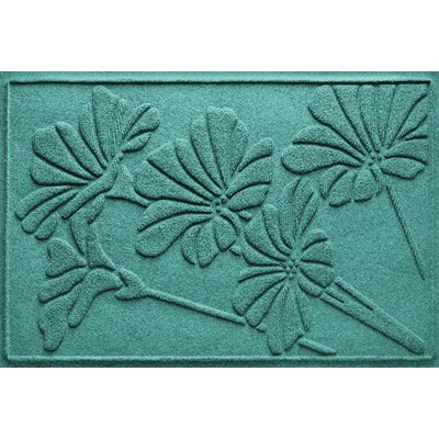 Aqua Shield Spring Flowers Doormat Color: Aquamarine
