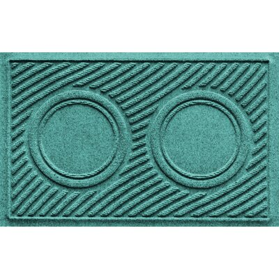 Aqua Shield Wave Pet Feeder Doormat Color: Aquamarine
