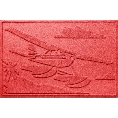 Aqua Shield Sea Plane Doormat Color: Solid Red