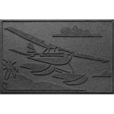 Aqua Shield Sea Plane Doormat Color: Charcoal