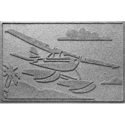 Aqua Shield Sea Plane Doormat Color: Medium Gray