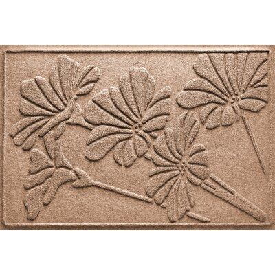 Aqua Shield Spring Flowers Doormat Color: Medium Brown