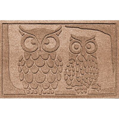 Aqua Shield Owls Doormat Color: Medium Brown