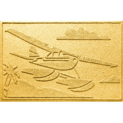 Aqua Shield Sea Plane Doormat Color: Yellow