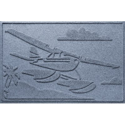 Aqua Shield Sea Plane Doormat Color: Bluestone