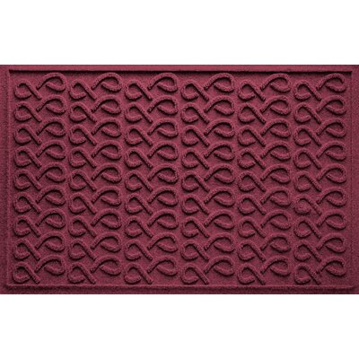 Aqua Shield Cunningham Doormat Color: Bordeaux