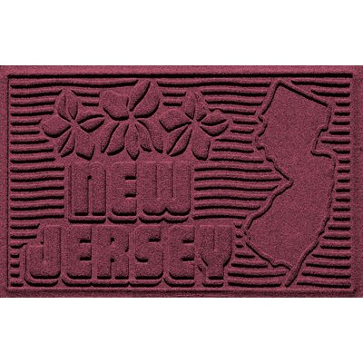Aqua Shield New Jersey Doormat Color: Bordeaux