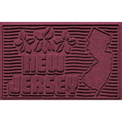 Aqua Shield New Jersey Doormat Color: Bordeaux