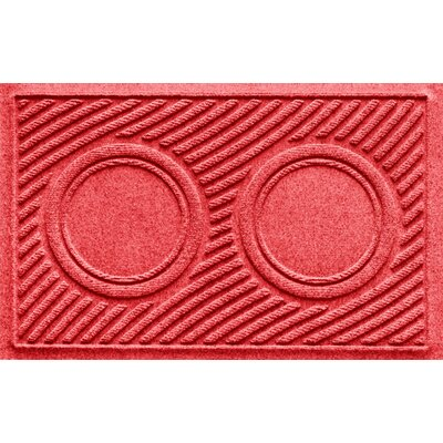 Aqua Shield Wave Pet Feeder Doormat Color: Solid Red