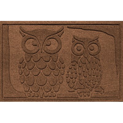 Aqua Shield Owls Doormat Color: Dark Brown