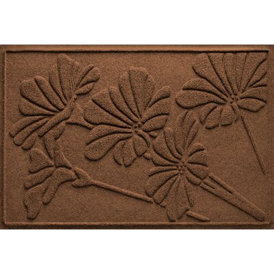 Aqua Shield Spring Flowers Doormat Color: Dark Brown