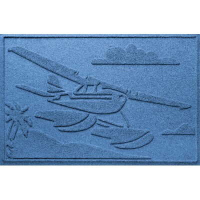 Aqua Shield Sea Plane Doormat Color: Medium Blue