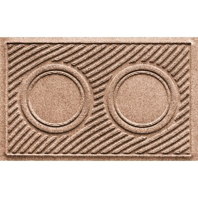Aqua Shield Wave Pet Feeder Doormat Color: Medium Brown