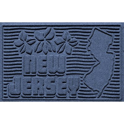 Aqua Shield New Jersey Doormat Color: Navy