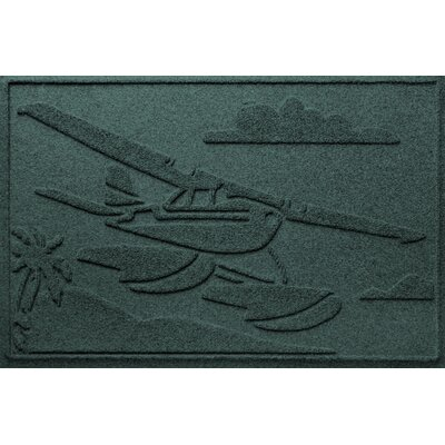 Aqua Shield Sea Plane Doormat Color: Evergreen