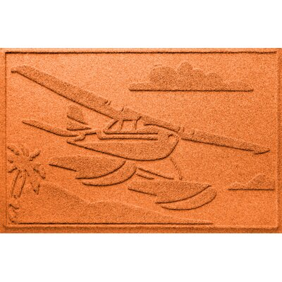 Aqua Shield Sea Plane Doormat Color: Orange