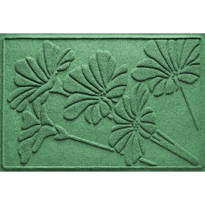 Aqua Shield Spring Flowers Doormat Color: Light Green