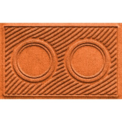 Aqua Shield Wave Pet Feeder Doormat Color: Orange