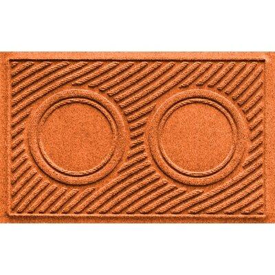 Aqua Shield Wave Pet Feeder Doormat Color: Orange