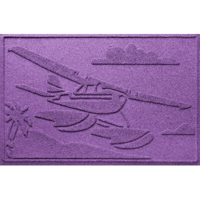 Aqua Shield Sea Plane Doormat Color: Purple