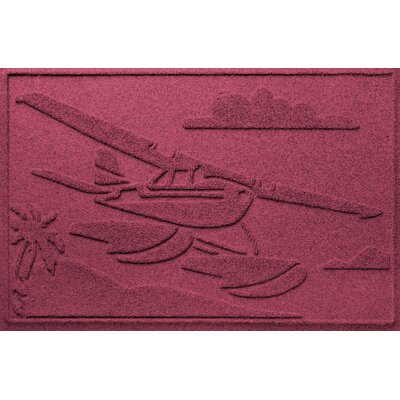 Aqua Shield Sea Plane Doormat Color: Bordeaux