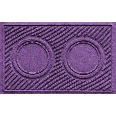 Aqua Shield Wave Pet Feeder Doormat Color: Purple
