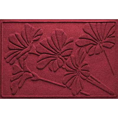 Aqua Shield Spring Flowers Doormat Color: Red/Black