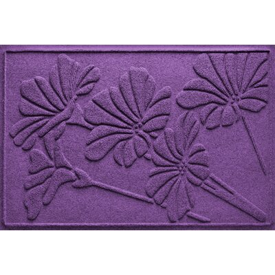 Aqua Shield Spring Flowers Doormat Color: Purple