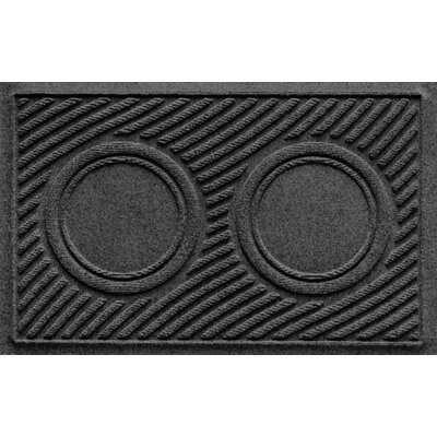 Aqua Shield Wave Pet Feeder Doormat Color: Charcoal