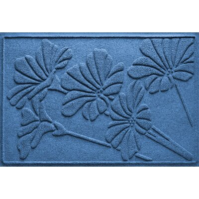 Aqua Shield Spring Flowers Doormat Color: Medium Blue