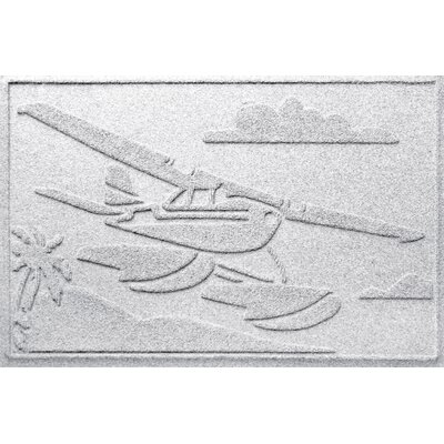 Aqua Shield Sea Plane Doormat Color: White