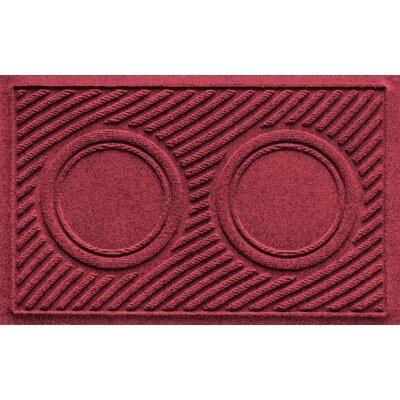 Aqua Shield Wave Pet Feeder Doormat Color: Red/Black