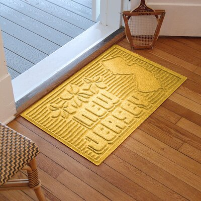 Aqua Shield New Jersey Doormat Color: Yellow